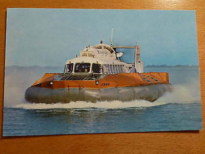 Vintage Nigh colour postcard of SRN 6 Hovercraft