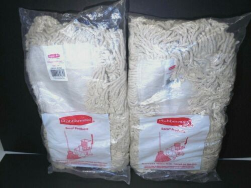"""Rubbermaid Seco Disposaduster Cotton Mop Pad 24"""" NEW Lot of 2"""