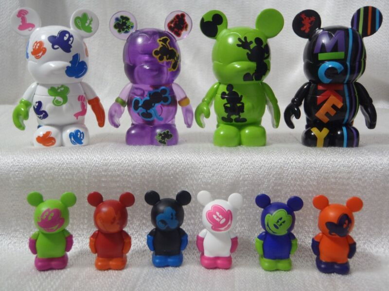 "Disney Vinylmation Oh Mickey Mouse COMPLETE SET (4) 3"" + (6) 1.5"" Jr. Figures"