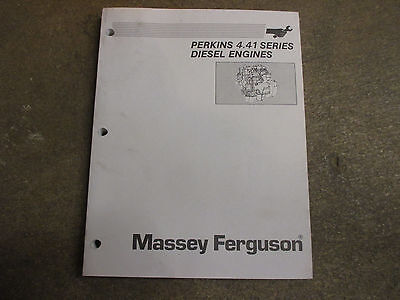 Perkins 4.41 4 41 Series Diesel Engine Motor Service Repair Manual