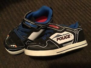 GEORGE BRAND, SIZE 8, VELCRO, POLICE SHOE WITH LIGHTS.