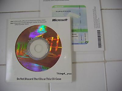 Microsoft Office 2003 Sbe With Word Excel Outlook Powerpoint Publisher  New