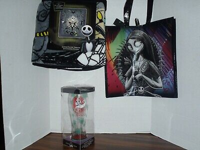 The Nightmare Before Christmas Jack Plush Throw Blanket & Tote Bag With Goblet
