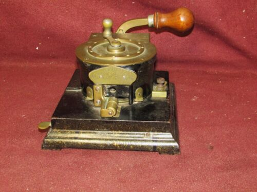 Antique Abbott Chicago Cast Iron Check Perforator Office Equipment
