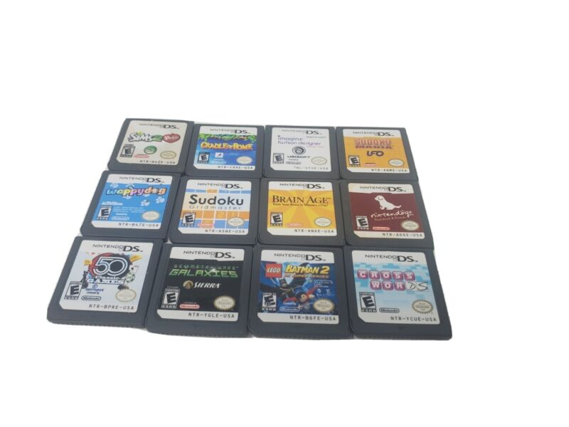 Nintendo DS Games Lot Of 12 Authentic