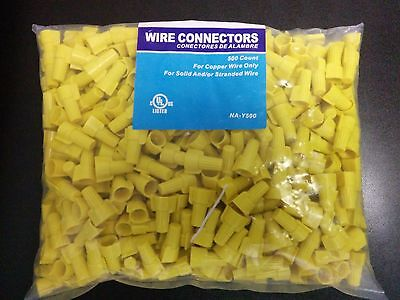 (500 pc) P11 Yellow Winged Nut Screw On Wire Connectors Twist-On BAG