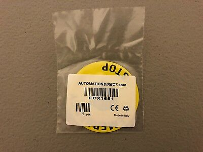 New In Package Automation Direct Emergency Stop Legend Plate Ecx1651 Lot Of Two