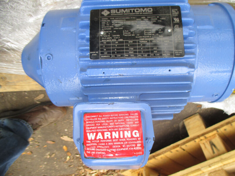 SUMITOMO AC 2HP ELECTRIC MOTOR 145TC/FT  FULL RANGE 0 -3000RPM TENV
