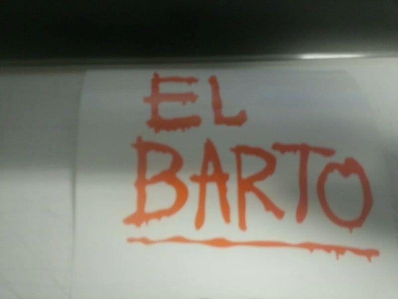 El Barto Simpsons Graffiti vinyl decal