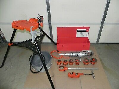 Ridgid 700 Power Threader 115v12r Set 12 - 2case Oiler Rigid Complete