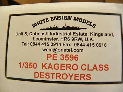 WHITE ENSIGNS MODELS 1/350 PE 3596 KAGARO CLASS DESTROYER- DETAIL SET