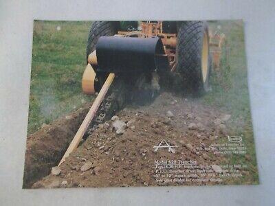 Bradco Model 620 Trencher 420 Auger Backfiller 720 Blade For John Deere Brochure