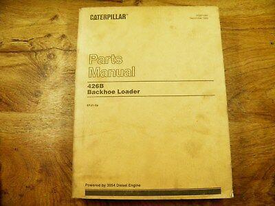 Cat Caterpillar 426b Parts Book 5yj1-up