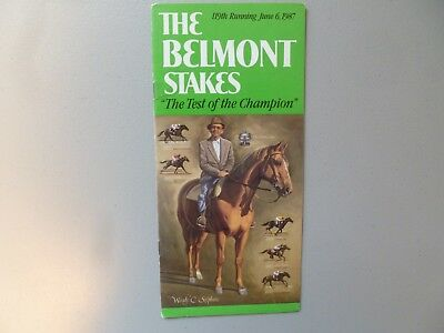 1987 BELMONT STAKES PROGRAM - BET TWICE - WOODY STEPHENS COVER -MINT CONDITION