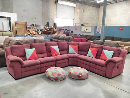 DELIVERY TODAY COMFORTABLE L RECLINER corner sofa SALE NOW