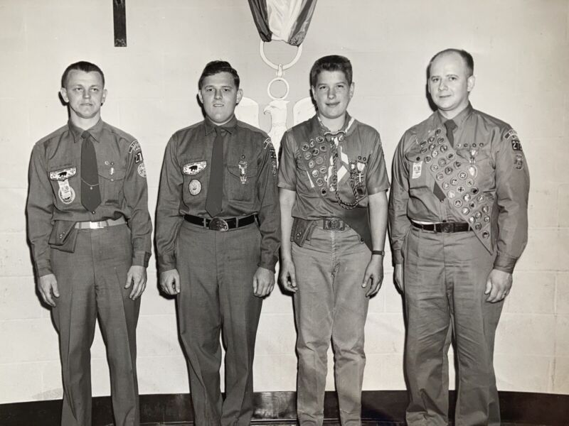 Eagle Scout Ceremony Picture Vintage Photograph Nashua NH Pasaconaway