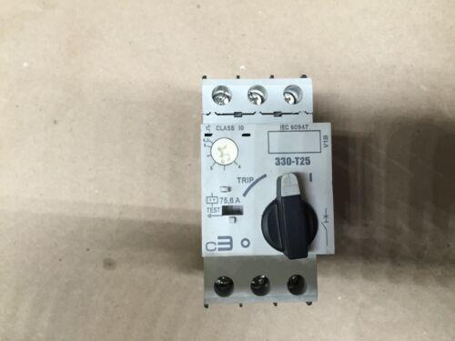 c3 controls 330-T25S2D63 rail motor protective circuit breaker