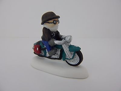 Dept 56 North Pole Harley-Davidson Knucklehead on a Mission #4035576 New Retired