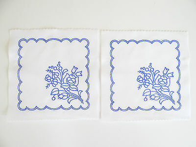 2 Kalocsa square doilies pattern print from Hungary New  6 1/4'' x 6 1/4'' c for sale  Long Beach