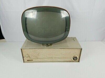 Vintage PHILCO PREDICTA Black & White Swivel TV Television Parts or Repair