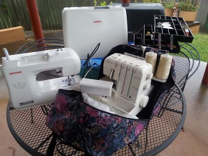 Janome sewing machine & Janome over locker Hobart CBD Hobart City Preview
