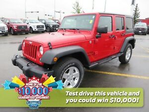 2014 Jeep Wrangler Unlimited Sport 3.6l v6 and clean Carproof