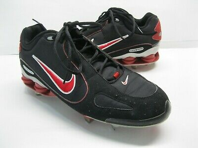 buy online 3d203 def93 Men s Nike Shox Monster Metal Baseball Cleats 311815-061 Black Red White  13.5