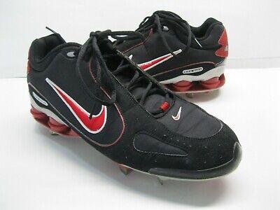buy online d09bd 5f789 Men s Nike Shox Monster Metal Baseball Cleats 311815-061 Black Red White  13.5