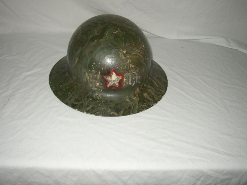 CUSTOM CIVAL DEFENSE HELMET WITH LINER & JAPENESE WRITING  NICE! LOT #Z-26