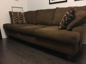 Oversized couch and loveseat