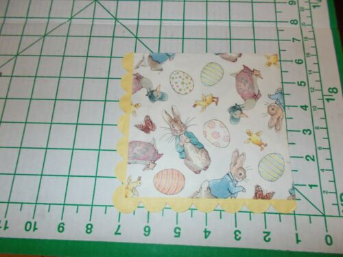 """Two Decorative Luncheon Napkins for Decoupage """"Peter Rabbit"""""""