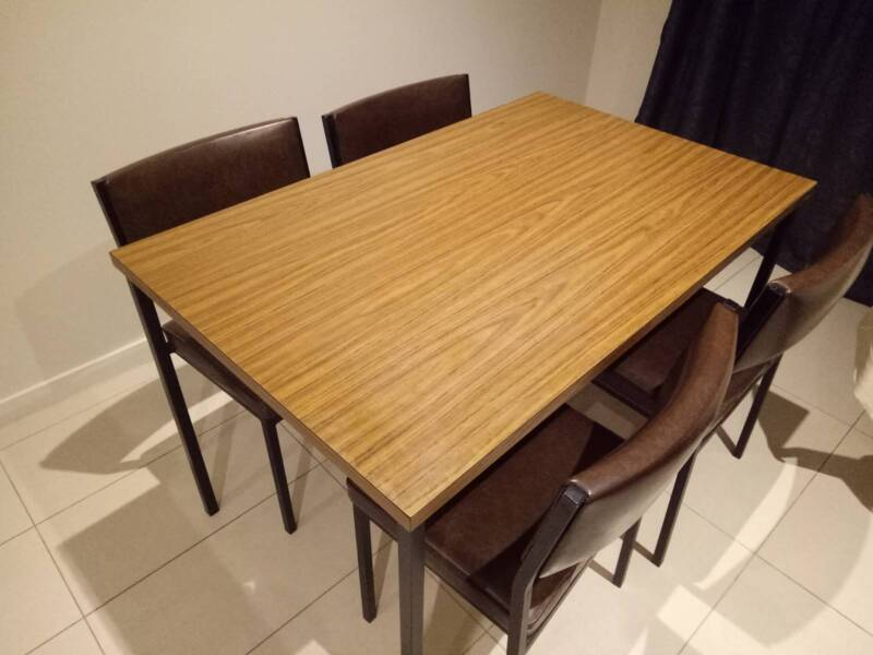 Solid Dining Table and Chair 5 piece set