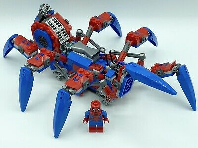 100% Real Lego Marvel Super Hero Spider Man And Crawler Minifigure Lot 76114