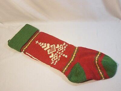 - Handmade Homemade Knitted Christmas Stocking Tree of Heart Cross Topper