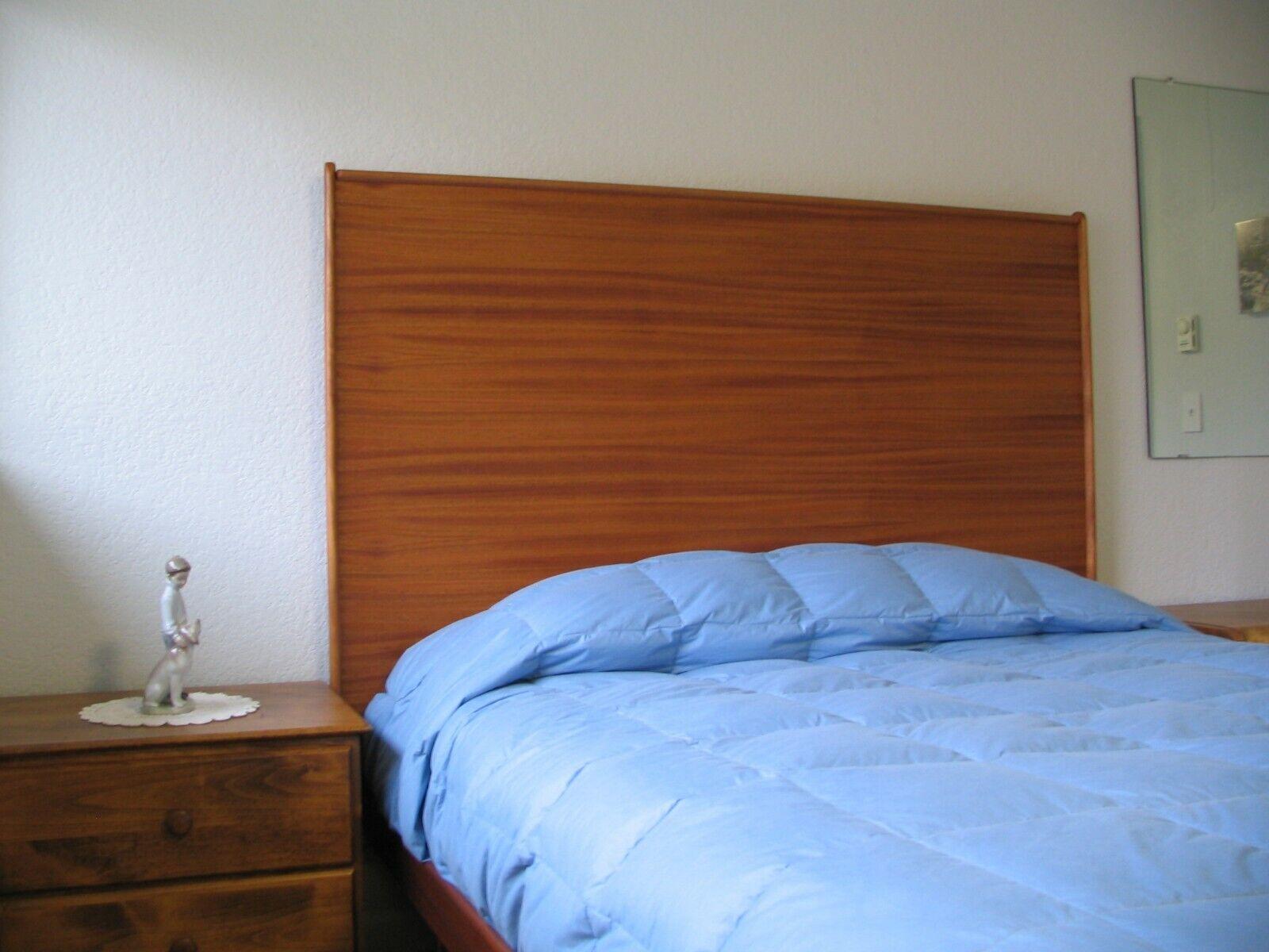 headboard mahogany wood scandinavian with legs