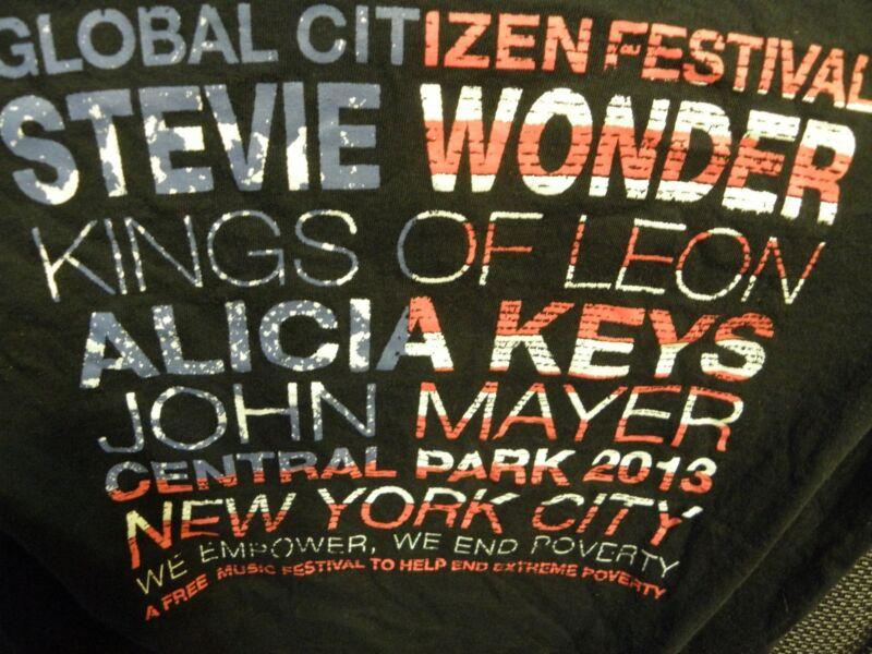 Global Citizen Festival T-Shirt Stevie Wonder Alicia Keys John Mayer Kings of Le