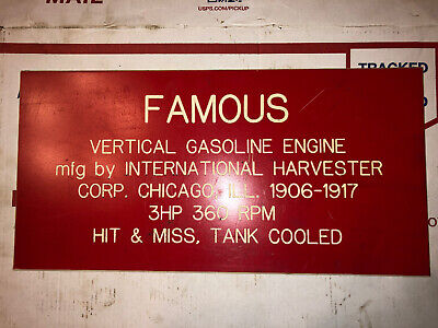 3hp Ihc Vertical Famous Sign Hit Miss Stationary Engine