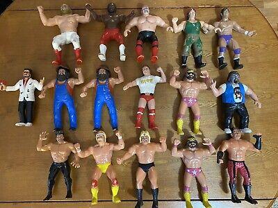 "Vintage 1980s LJN WWF WWE Action Figures 8"" lot of 16 Hulk Hogan Roddy Piper"