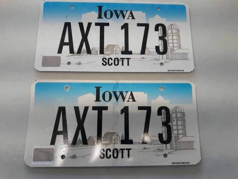 Iowa license plates