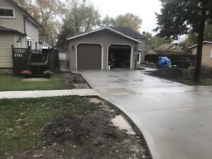 Engineered shop floor,driveways,insulated concrete foundation