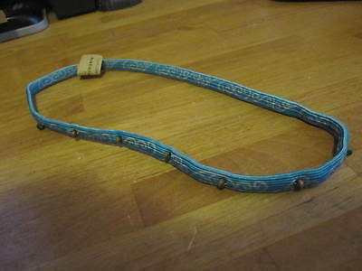 NEW Natural Life girls Womens stretchy blue hair Band with wooden beads - Girls Womens Natural