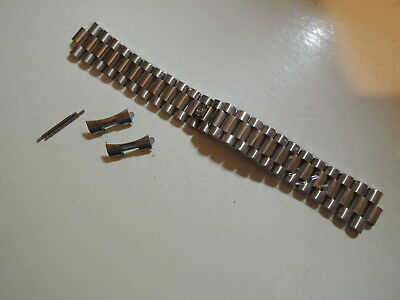 Original 20mm Bulova President Stainless steel Watch Band