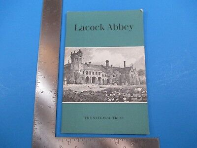 Vintage Lacock Abbey National Trust Wiltshire England Informational Book S4292