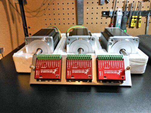 Gecko G203v VAMPIRE Drives 3 & 3 Nema 34 1700oz 5a Steppers (Pro-Grade System)
