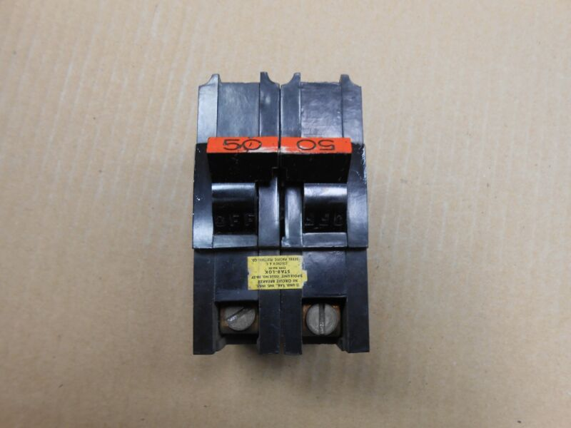 1 FPE FEDERAL PACIFIC NA NA250 CIRCUIT BREAKER 50A 50 AMP 2P 240V (6 AVAILABLE)