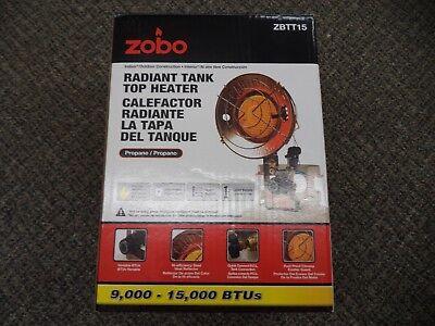 Propane Tank Top Heater - NEW ZOBO Propane Tank Top Heater 9,000 - 15,000 BTU Variable Heat Setting ZBTT15