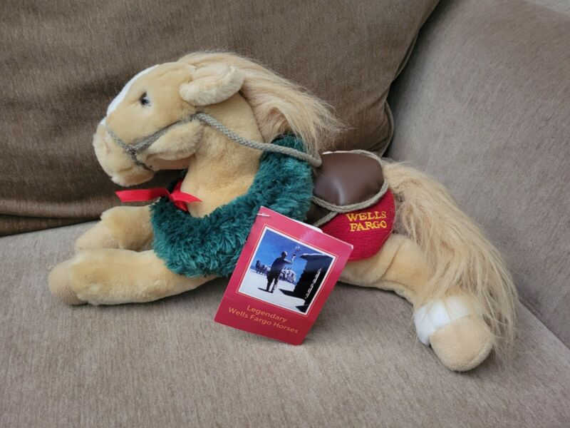 """Wells Fargo Horse Plush Buck 14"""" Tags Attached"""