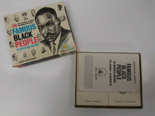 1970 Ed-U-Cards Famous Black People in American History Complete Set Trivia Game