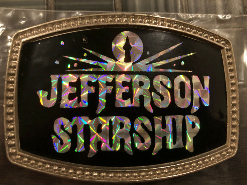 Original Vintage CPI Jefferson Starship Band Holographic Belt Buckle 1977 Rare