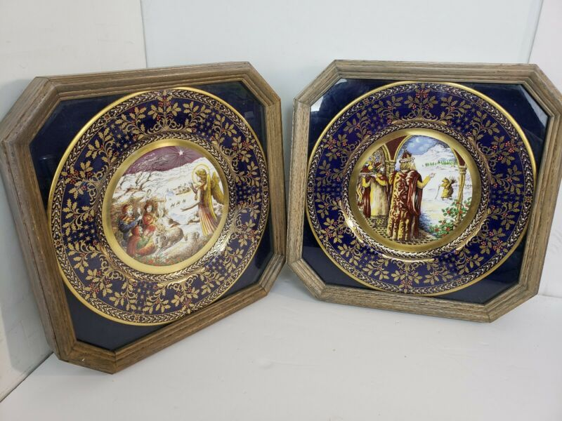 "Caverswall Christmas Carol Plate"" GOOD KING WENCESLAS"" & ""THE FIRST NOEL"""